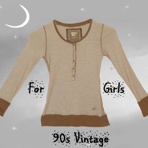 Limited Too Girl's Brown Henley Fall Polo